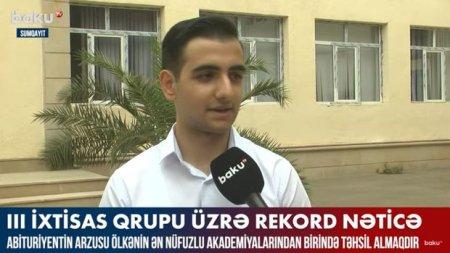 """680 bal toplayan abituriyent: """"Hər saat dərs oxumağa ehtiyac yoxdur"""" - VİDEO"""