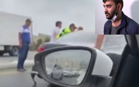 """Polisdən qaçan şəxs saxlanıldı """"Marixuana çəkmişdim"""" - Video"""